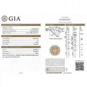 ใบเซอร์เพชรน้ำ 100 ขนาด 20 ตังค์ - GD1872