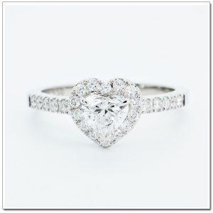 แหวนเพชรหัวใจ แหวนเพชรแฟนซี GR1111