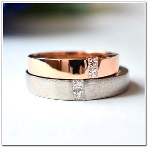 แหวนคู่ แหวนแต่งงาน 18 White gold, 18K pink gold
