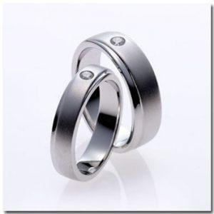 แหวนคู่ แหวนแต่งงานพ่นทราย GR1038