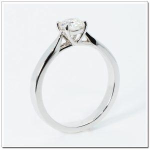 แหวนเพชรเม็ดเดี่ยว 18K white gold เพชร 40 ตังค์ น้ำ 95