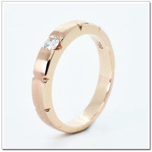 แหวน 18K pink gold