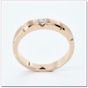 แหวน 18K pink gold ดีไซน์เก๋