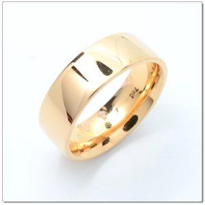 แหวนเกลี้ยงโรสโกลด์