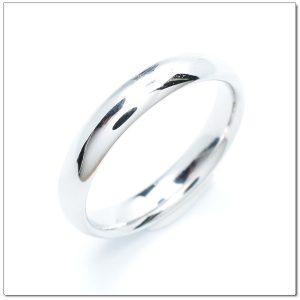 แหวนทองคำขาวเกลี้ยง