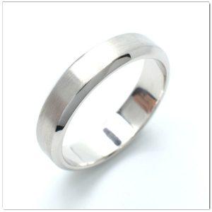 แหวนเกลี้ยงทองคำขาวผิวด้าน